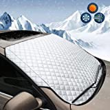 DaZone Windshield Snow Ice Cover,Winter Frost Guard Sun Shade Protector, Thicker Cotton Snow Removal Shield Windscreen…