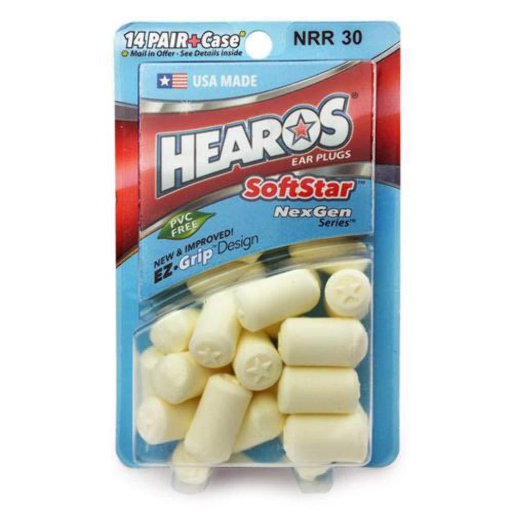 Hearos HEAROS SoftstarフォームNexGen耳栓、ケース内14ペア+無料メール   B00Y8LBCUO