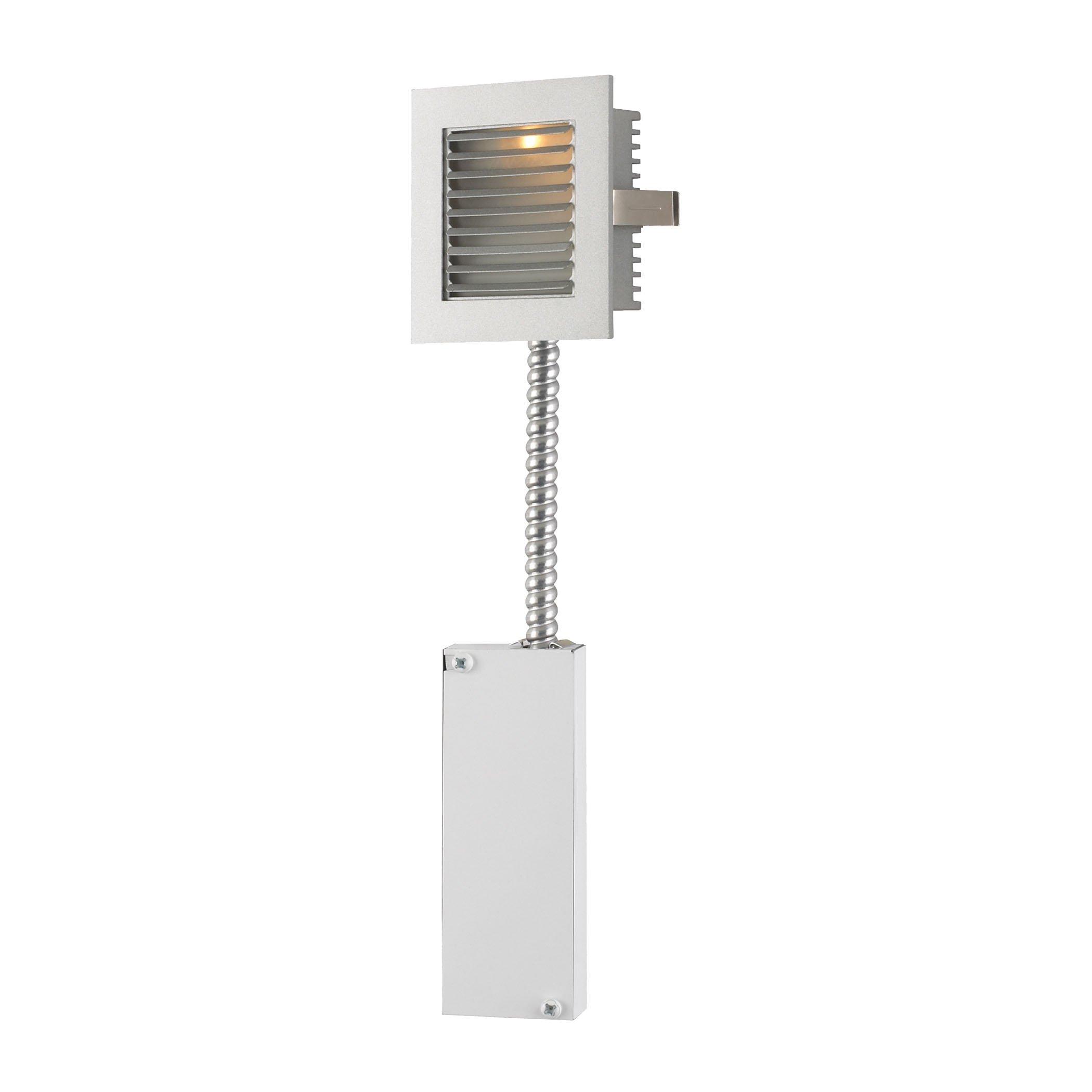 Steplight - Wall Recessed Xenon W/ Retrofit Housing Grey Louvre / Grey Trim