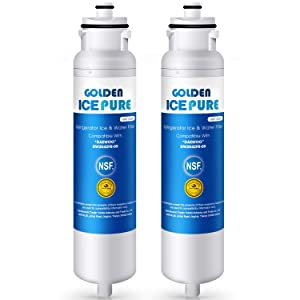 GOLDEN ICEPURE DW2042FR-09 Refrigerator Water Filter Compatible with Daewoo DW2042FR-09, Kenmore 46-9130, Aqua Crystal DW2042F-09 (2-Packs)