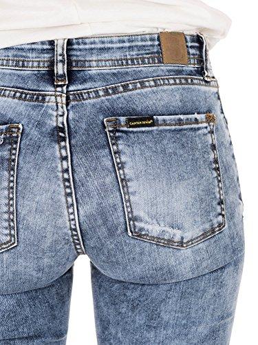 Blu Donna C Blue Denim turbo Skinny Capitán Jeans wTqIfx