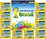 2014 Panini Stickers FIFA World Cup Brazil Special Collectors Package! Features 10 Factory Sealed Packs PLUS 72 Page World Cup Sticker Album! Includes Total of 80 Brand New Stickers!