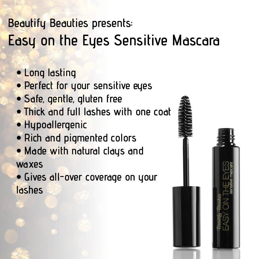 Amazon.com : EASY ON THE EYES Sensitive Eye Mascara, Black (0.35 ...