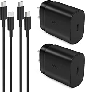 USB C Fast Charger,25W Super Fast Charger for Samsung Galaxy Note 20 Ultra,Note10, Note10 Plus,S20 Ultra,S20 Plus,S10 5G, iPad Pro 11/12.9, Galaxy S10/ S9/ S8/ Plus with 5ft Type C to Type C Cable