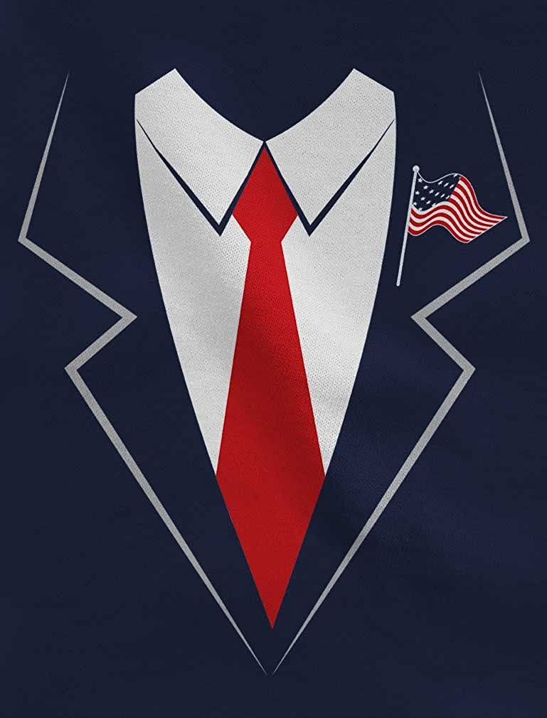 B074K8XN3V Donald Trump Tuxedo Costume Suit Tie Halloween Shirt Youth Kids Long Sleeve Tee 51-radB1OcL