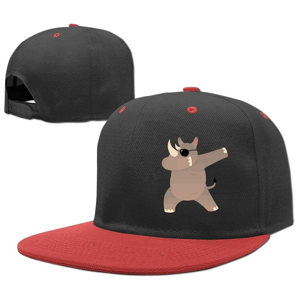 REXHBGS9GHBK Rhino with Sunglasses Dabbing Boy and Girl Kids Hip Hop Baseball Cap Trucker Hats Adjustable
