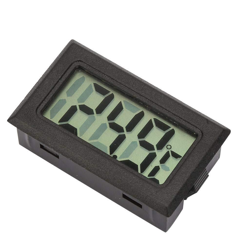 2 piezas Mini term/ómetro//higr/ómetro digital electr/ónico incorporado inal/ámbrico sin cable White Temperature and Humidity Meter Term/ómetro Medidor de higr/ómetro