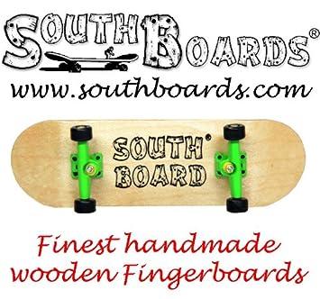 Full Finger Skateboard Natural Grey Black Southboards Handmade
