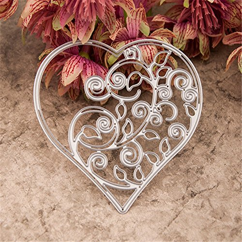1Pcs Metal Cutting Dies Hollow Out Heart Stencil Embossing - 3