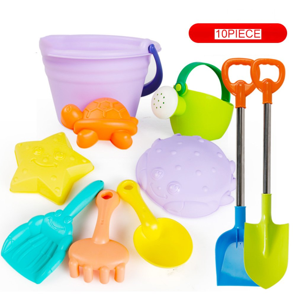 VGHJK Children's Beach Toy Set Soft Sand Shovel Baby Baby Shower Cassia Play Sand Tools 1-3 Years (Color Random),I