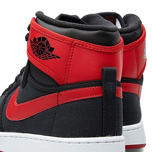 Nike Aj1 Ko High Og, Zapatillas de Deporte Exterior para Hombre Negro / Rojo / Blanco (Black / Varsity Red-White)