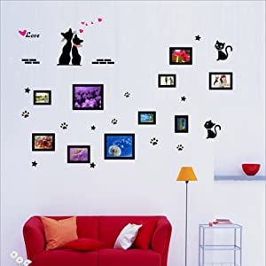 Cat Frame Wall Stickers Love Wall Decal Mural Home Decor