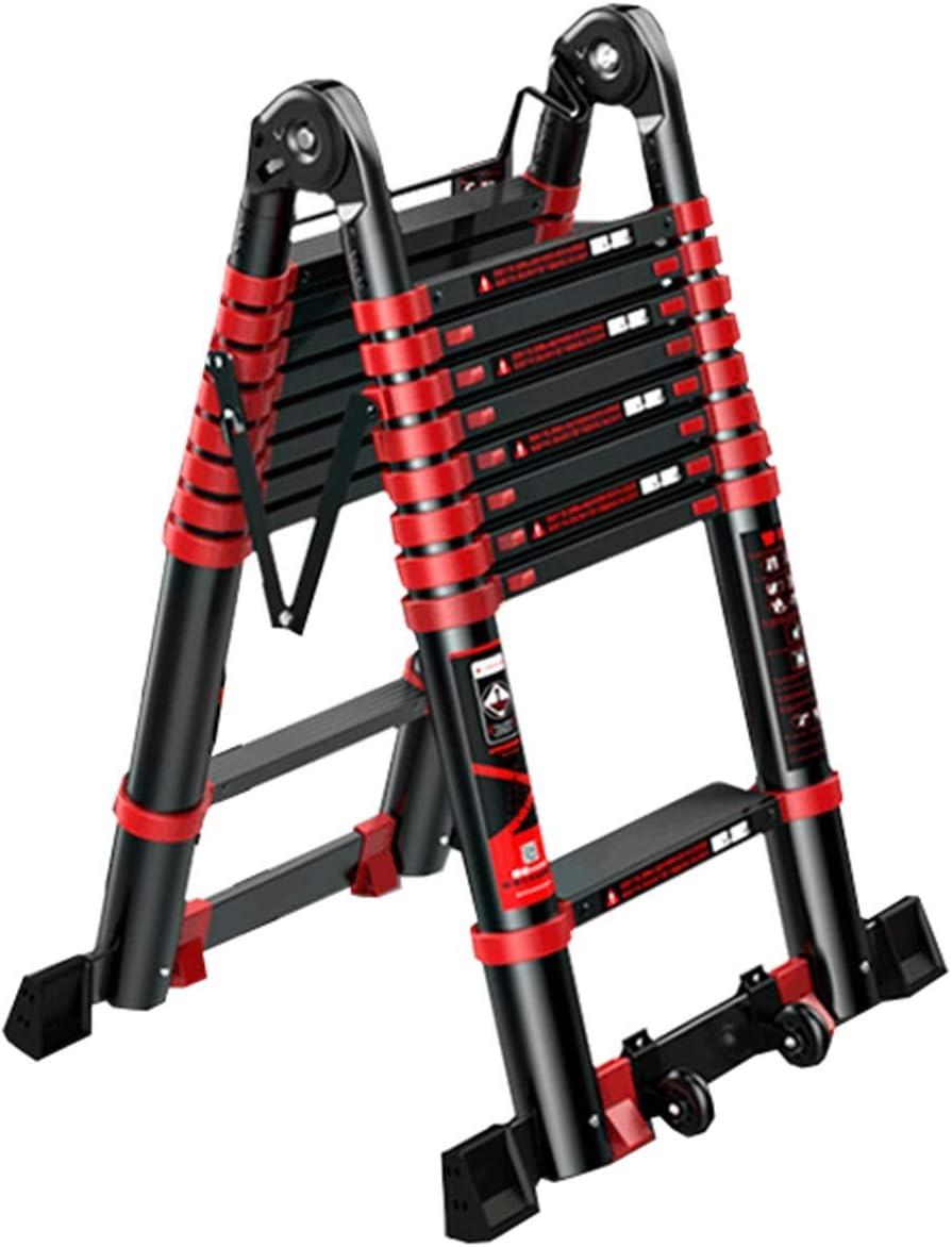 LJSJT Escalera Plegable de Aluminio 2.1m Escalera de extensión portátil para techos, ingeniería Teniendo Peso 150 kg: Amazon.es: Hogar