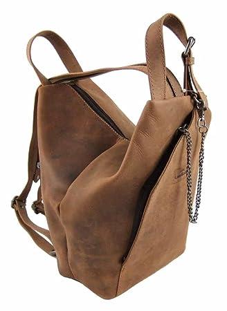 020c370909b15 LandLeder City-Bag Biker-Rucksack Rind-Leder Daybag Damen-Schulter-Tasche