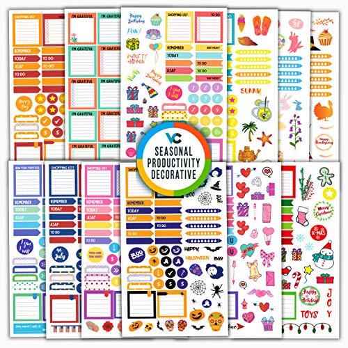 Amazon.com: Vladi Creative Planner pegatinas paquete de ...
