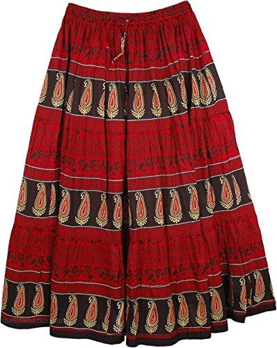 Milano Womens Skirt (TLB - Milano Red Summer Long Skirt - L: 36