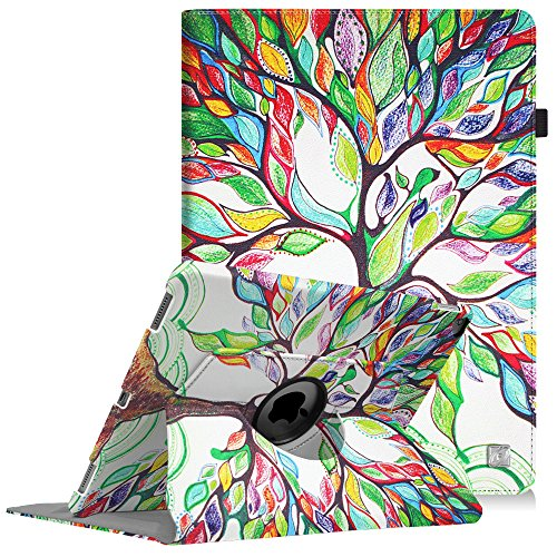 Fintie iPad Pro 12.9 Case - 360 Degree Rotating Stand Case with Smart Protective Cover Auto Sleep/Wake for Apple Pro 12.9 (1st Gen 2015) / iPad Pro 12.9 (2nd Gen 2017), Love Tree