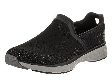 Skechers Performance Men's Go Walk Sport Energy Slip-On Walking Shoe, Black/White, 9.5 M US