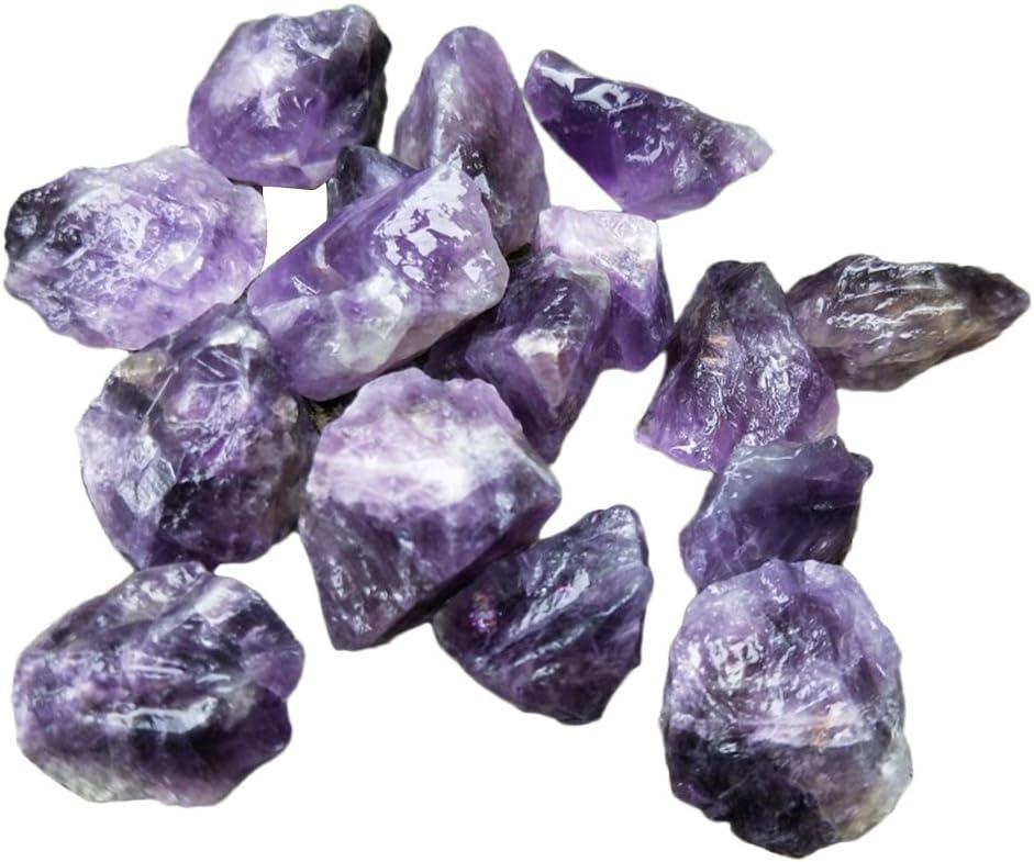 Yunhigh Amatista Natural Piedra Preciosa en Bruto Cristal Piedra a Granel espécimen curación Piedra Reiki Chakra Terapia de meditación estatuilla protección Amuleto - 10 unids, púrpura