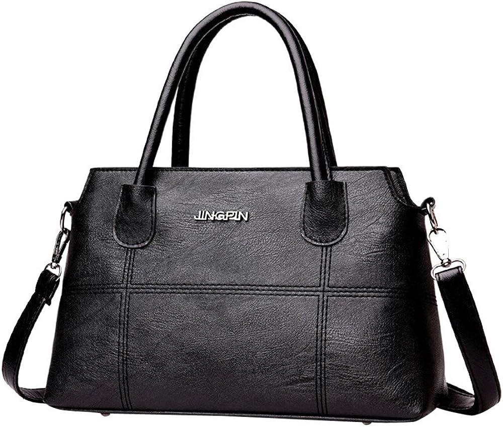 PXiong Fashion Women Leather Splice Handbag Shoulder Bag Crossbody Bag Tote Bag