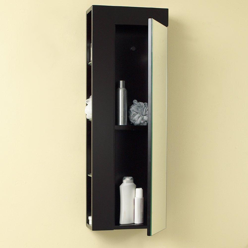 Amazon Fresca Bath FST1024ES Bathroom Linen Side Cabinet With Large Mirror Door Espresso Kitchen Dining