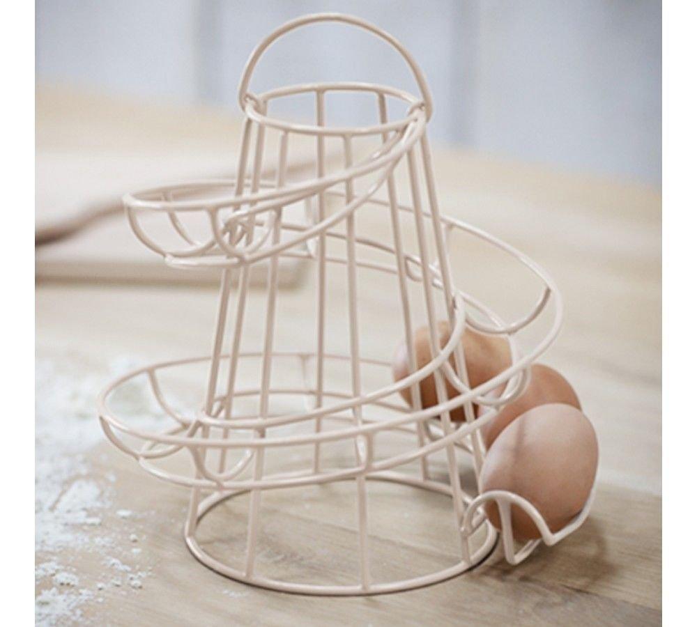 Quailitas Wire Egg Run Cream, portauova con manico.