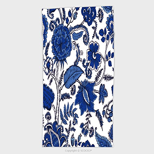 11.8W x 27.5L Inches Custom Cotton Microfiber Ultra Soft Hand Towel Seamless Pattern With Fantasy Flowers Natural Wallpaper Floral Decoration Curl Illustration 57374294 (Jewish Hat With Curls)