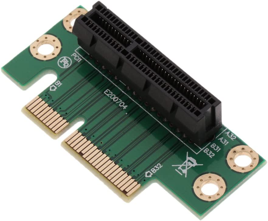 PCI Express PCIe 4X Adapter Card Extension Port High Speed Riser for 1U//2U