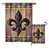 Cheap Ornament Collection S192016-BO Fleur De LYS Burlap Interests Fleur De LYS Impressions Decorative Vertical House 28″ X 40″ Garden 13″ X 18.5″ Double Sided Flags Set Printed in USA Multi-Color