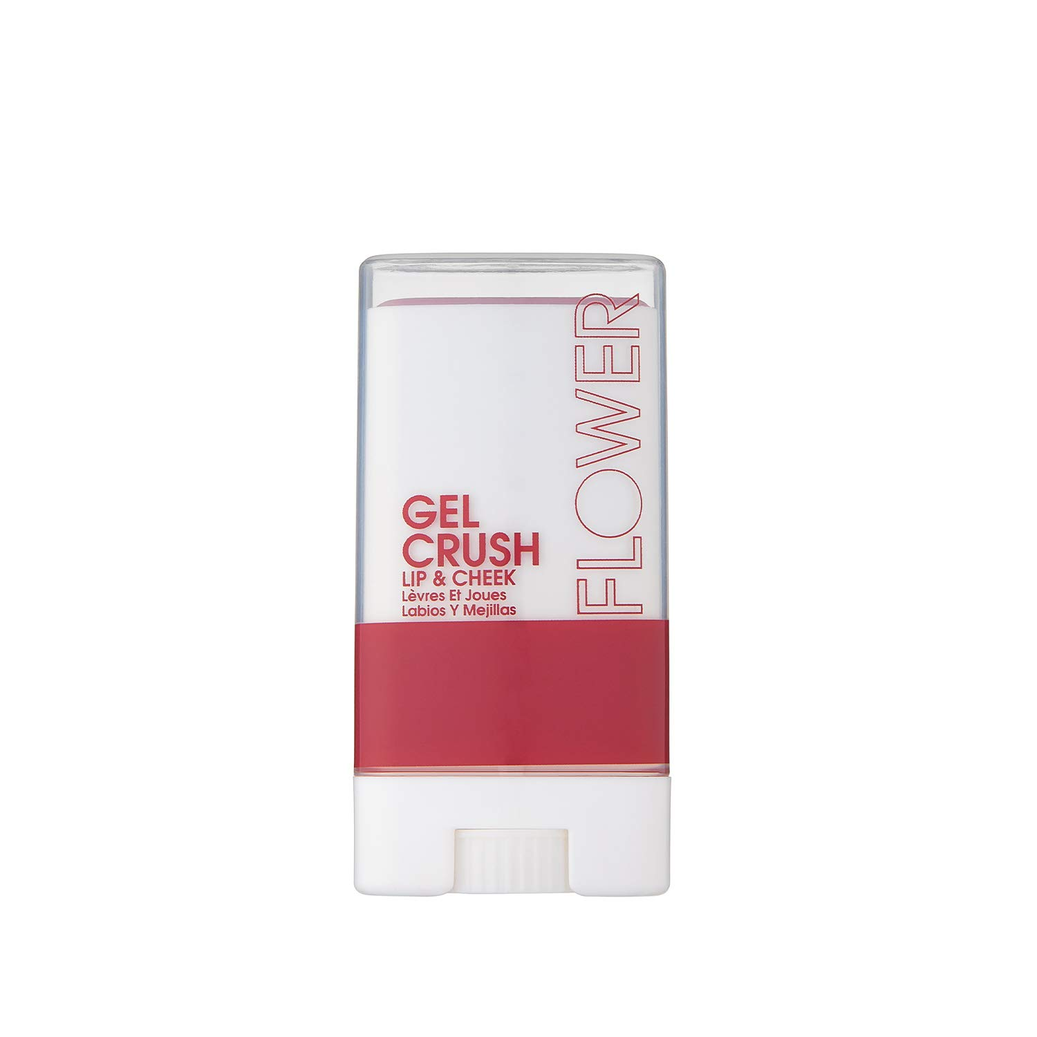Flower Beauty Lip & Cheek Gel Crush | Cream Blush and Lips Tint in One Portable Multistick | Hydrating Burst of Color | (Blackberry)