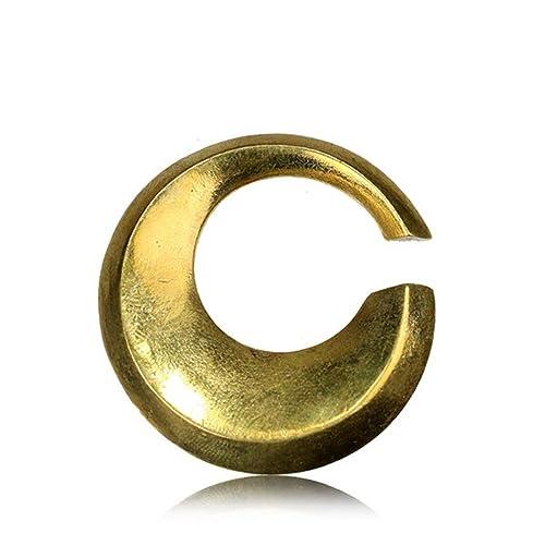 Latón Círculo Oreja pesos 4 mm calibre joyas Lóbulo estirada ...