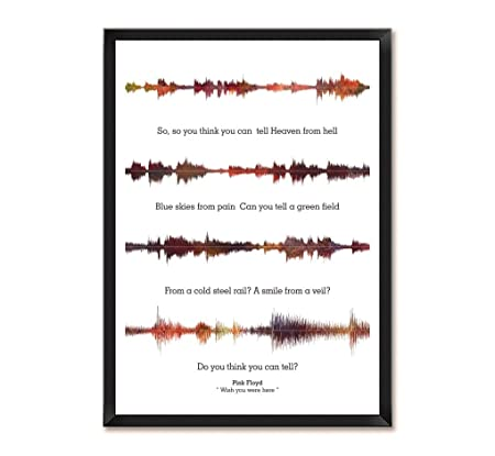 Lab No. 4 Pink Floyd Wish You Were Here Song Soundwave Lyrics Music ...