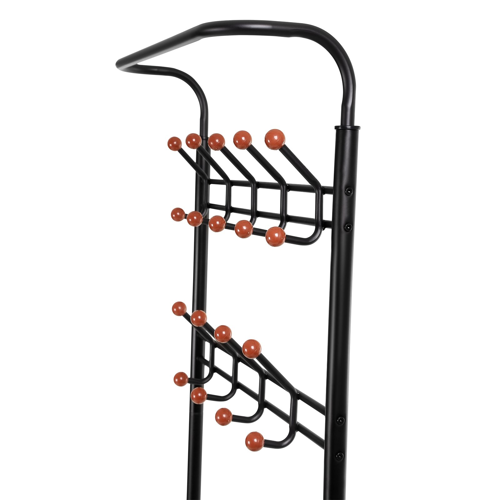 songmics entryway coat rack with storage shoe rack hallway organizer 18 hooks and 3 tier shelves. Black Bedroom Furniture Sets. Home Design Ideas