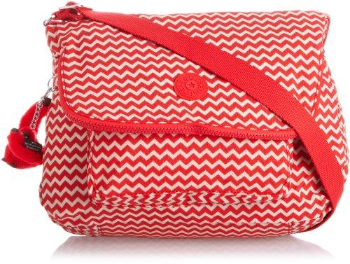 Kipling Women's Garan Shoulder Bag Black Chevron Red Pr