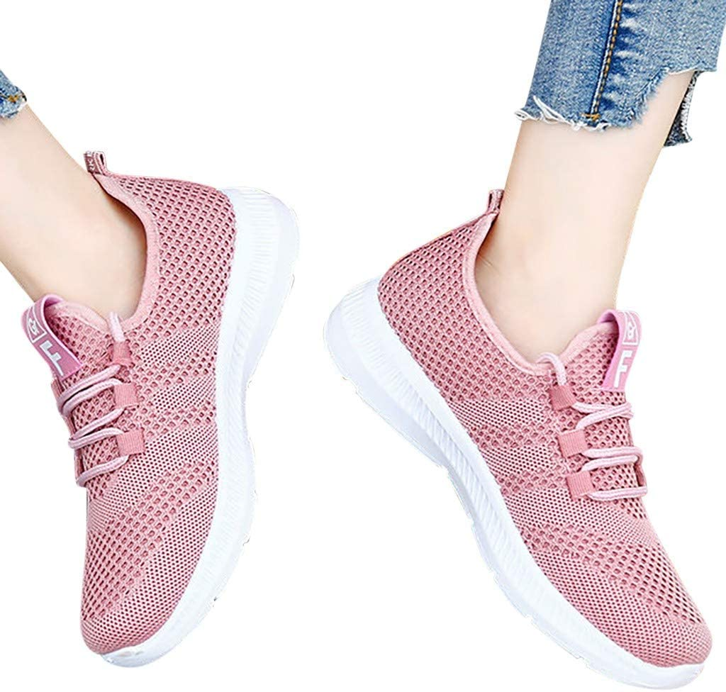 Womens Sneakers Ultra Lightweight Breathable Mesh Athletic Walking Running Shoes Midress Slip On Walking Shoes