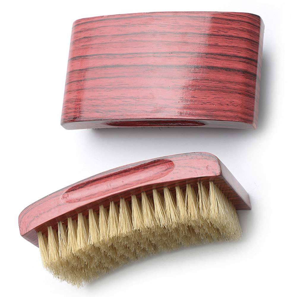 Curved Wave Brush Aosina Mens Curved Military Hair and Medium 360 Waves Brush Made with 100% White Boar Bristles and Nature Wood Great for 360 Waves and Wolfing