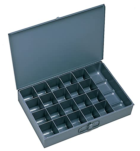 Durham 109-95-IND Gray Cold Rolled Steel Individual Large Scoop Box, 18 Width x 3 Height x 12 Depth, 21 Compartment