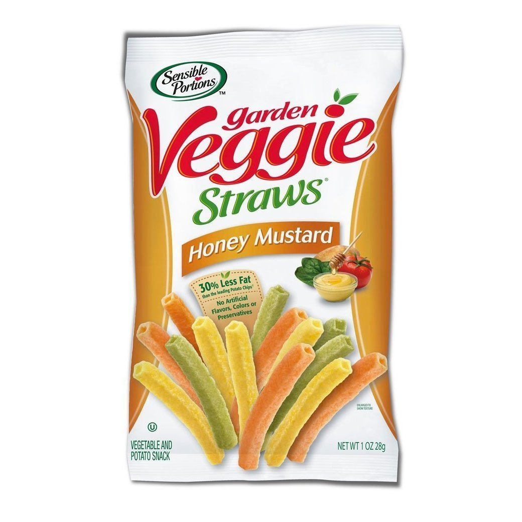Garden Veggie Snack, Straws Shape Chips Variety Pack, 1 Oz Bags (50 Bags) by Sensible Portions