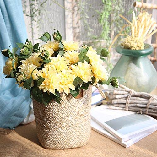 nikunLONG-Free Artificial Silk Fake Flowers Peony Bridal Hydrangea Decor Wreath Accessories Craft Fake Flower Wedding Decoration