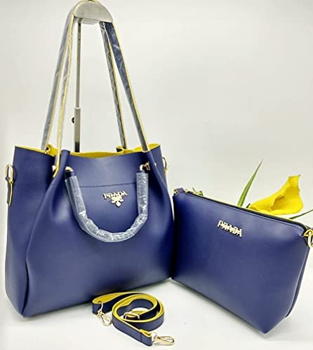 a1aab39b025 Fashionqween Women s PRADA Handbags Combo-2 Pieces (Blue)  Amazon.in  Shoes    Handbags