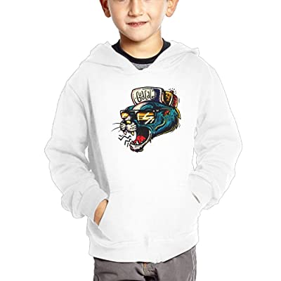 Anutknow Cartoon Leopard With Cap Pattern Children's Fashion Casual Hooded Pocket Sweater