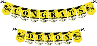 product image for Big Dot of Happiness Personalized Yellow Grad - Best is Yet to Come - Custom Yellow 2021 Graduation Party Bunting Bannerand Decorations - Congrats Custom Name Banner