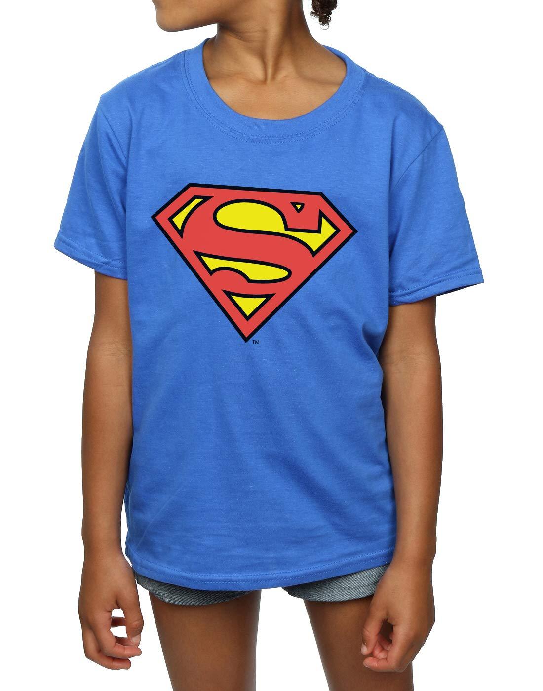 DC Comics niñas Superman Logo Camiseta 5-6 Years Azul real: Amazon.es: Ropa y accesorios