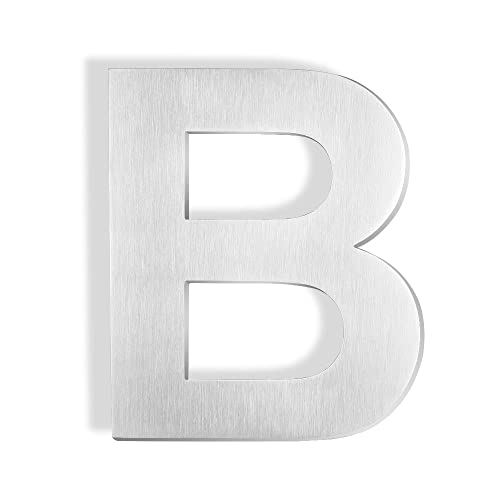 mellewell 6 inches stand off address letters sign house letter b brushed nickel made