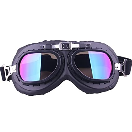 21f7f84182cf BMX Goggles Metallic Color Punk Style Dustproof Adult Warm Motocross  Goggles Dirt Bike ATV Motorcycle Off