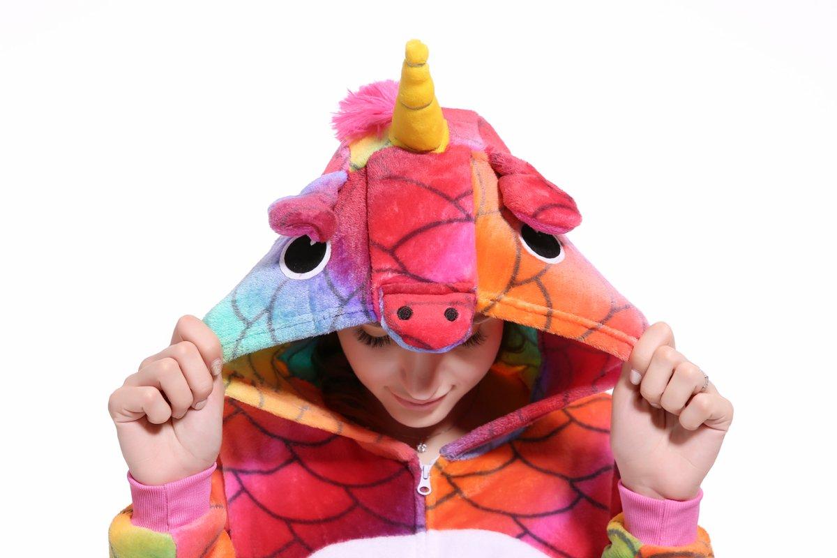 Blank King Unisex Unicorn Pajama Onesie Halloween Costume Cosplay (S, Mermaid-1) by Blank King (Image #4)