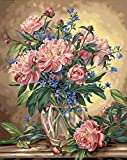 Dimensions Needlecrafts 91382 Paintworks Paint By Number, Peony Floral