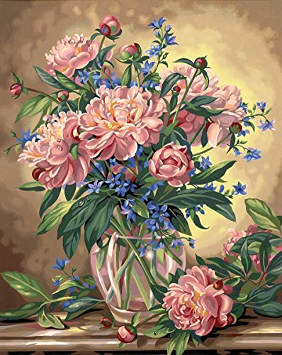 Dimensions Needlecrafts Paintworks Paint By Number, Peony Floral (Peonies By Number Paint)