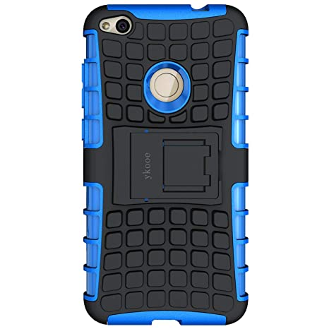 design innovativo 1d11b 6fe0d ykooe Silicone Phone Case for Huawei P8 Lite 2017 Cover Kickstand Heavy  Duty Armor (Blue)