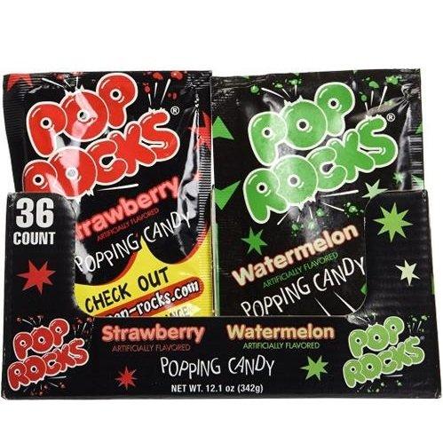 Pop Rocks Strawberry/Watermelon, 0.33 Ounce Packet, 36 - Shopping In Rock Little